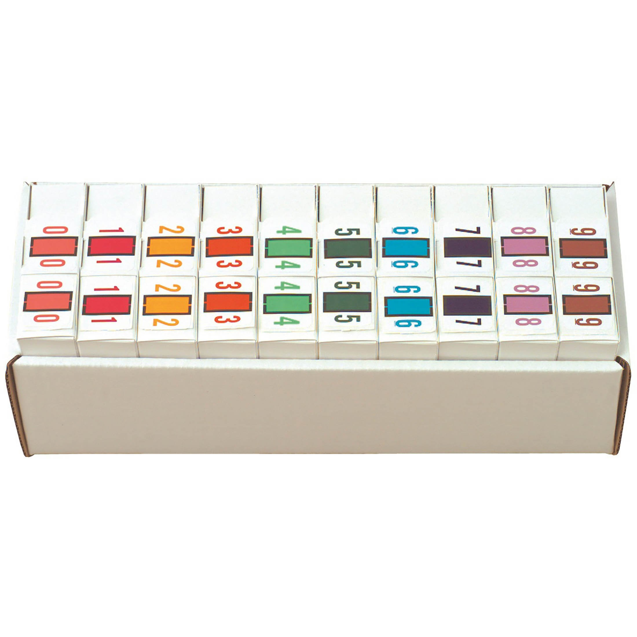 Tab Products Match TPNV Series Numeric Roll Labels - Set of Number 0 To 9