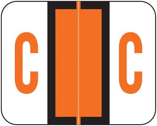 Smead BCCS Match TPPK Series Alpha Sheet Labels - Letter C - Orange