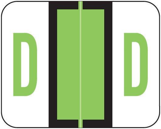 Smead BCCS Match TPPK Series Alpha Sheet Labels - Letter D - Fluorescent Green