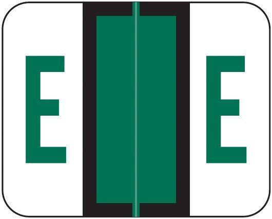 Smead BCCS Match TPPK Series Alpha Sheet Labels - Letter E - Green