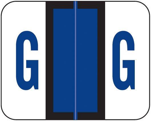 Smead BCCS Match TPPK Series Alpha Sheet Labels - Letter G - Purple