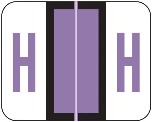 Smead BCCS Match TPPK Series Alpha Sheet Labels - Letter H - Lilac