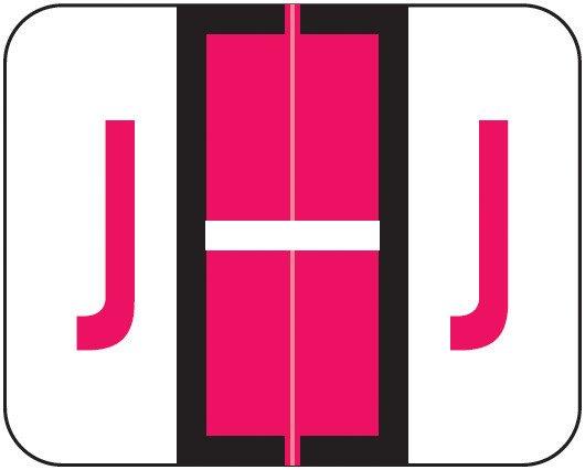 Smead BCCS Match TPPK Series Alpha Sheet Labels - Letter J - Red