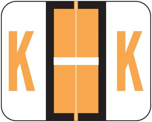 Smead BCCS Match TPPK Series Alpha Sheet Labels - Letter K - Fluorescent Orange