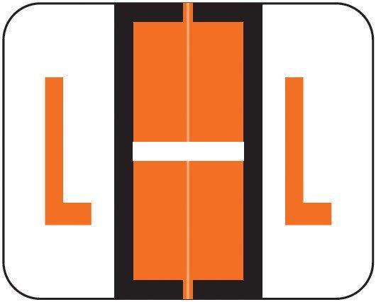 Smead BCCS Match TPPK Series Alpha Sheet Labels - Letter L - Orange