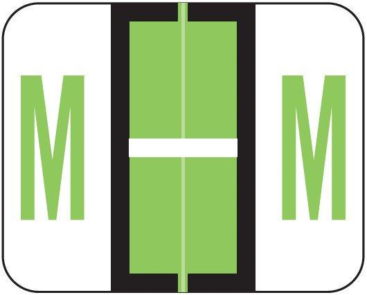 Smead BCCS Match TPPK Series Alpha Sheet Labels - Letter M - Fluorescent Green