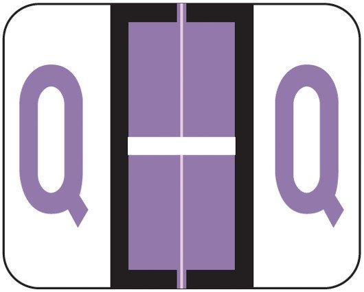 Smead BCCS Match TPPK Series Alpha Sheet Labels - Letter Q - Lilac
