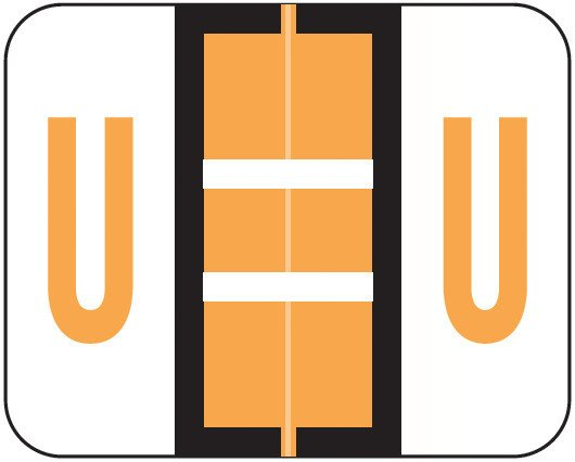 Smead BCCS Match TPPK Series Alpha Sheet Labels - Letter U - Fluorescent Orange