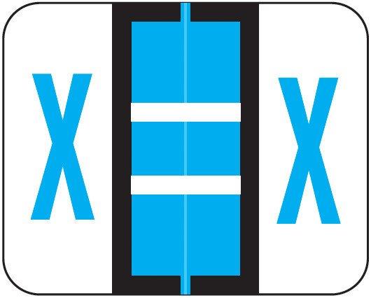Smead BCCS Match TPPK Series Alpha Sheet Labels - Letter X - Blue