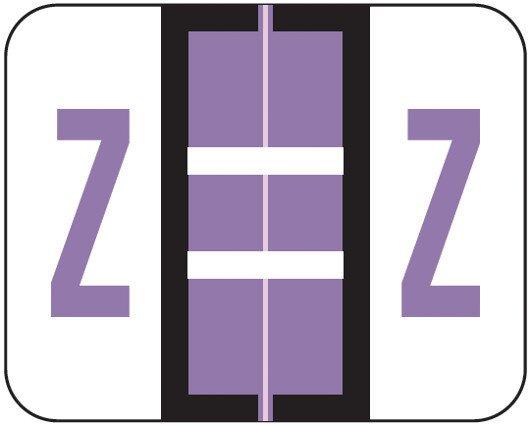 Smead BCCS Match TPPK Series Alpha Sheet Labels - Letter Z - Lilac
