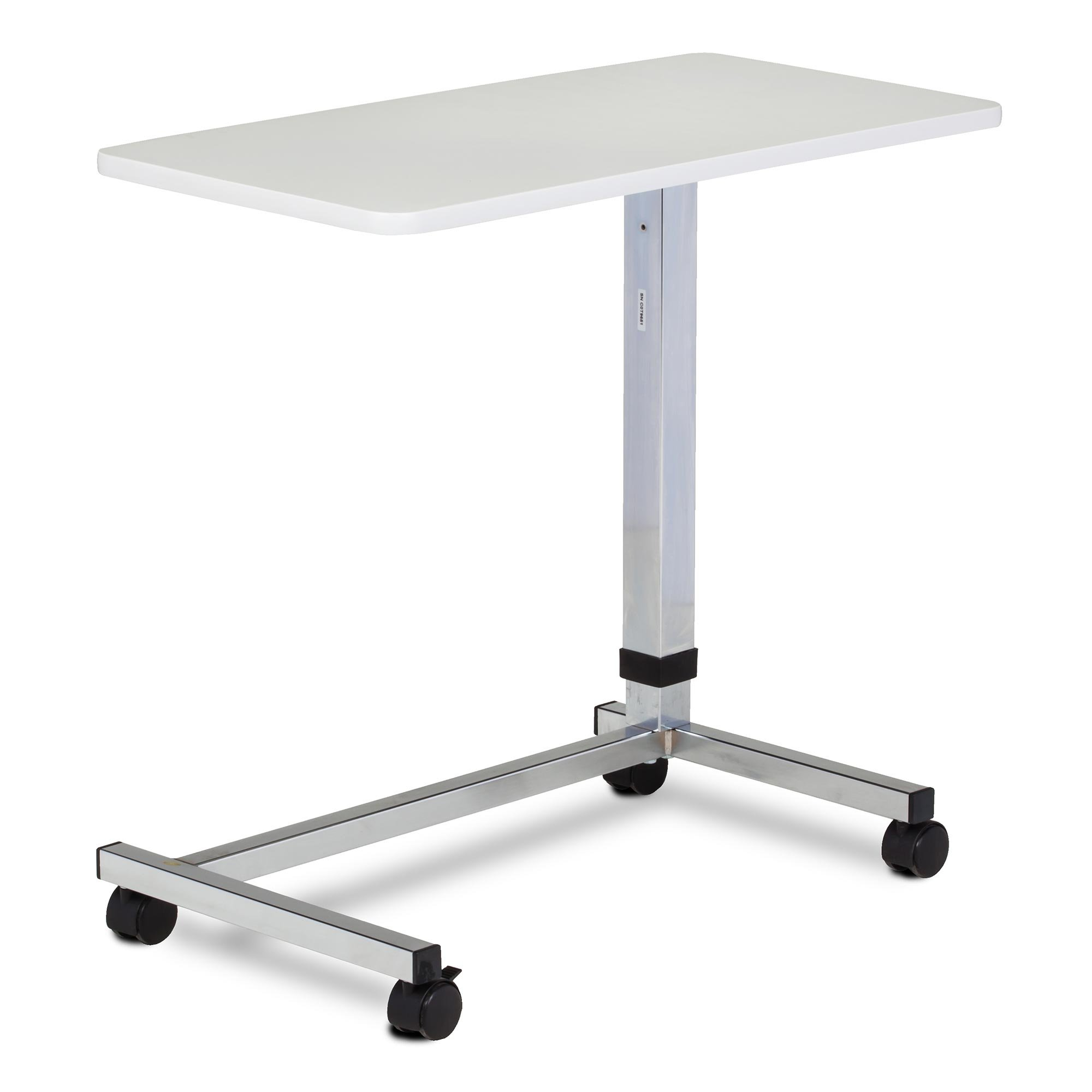 Clinton U-Base, Over Bed Table With Gray Laminate Top