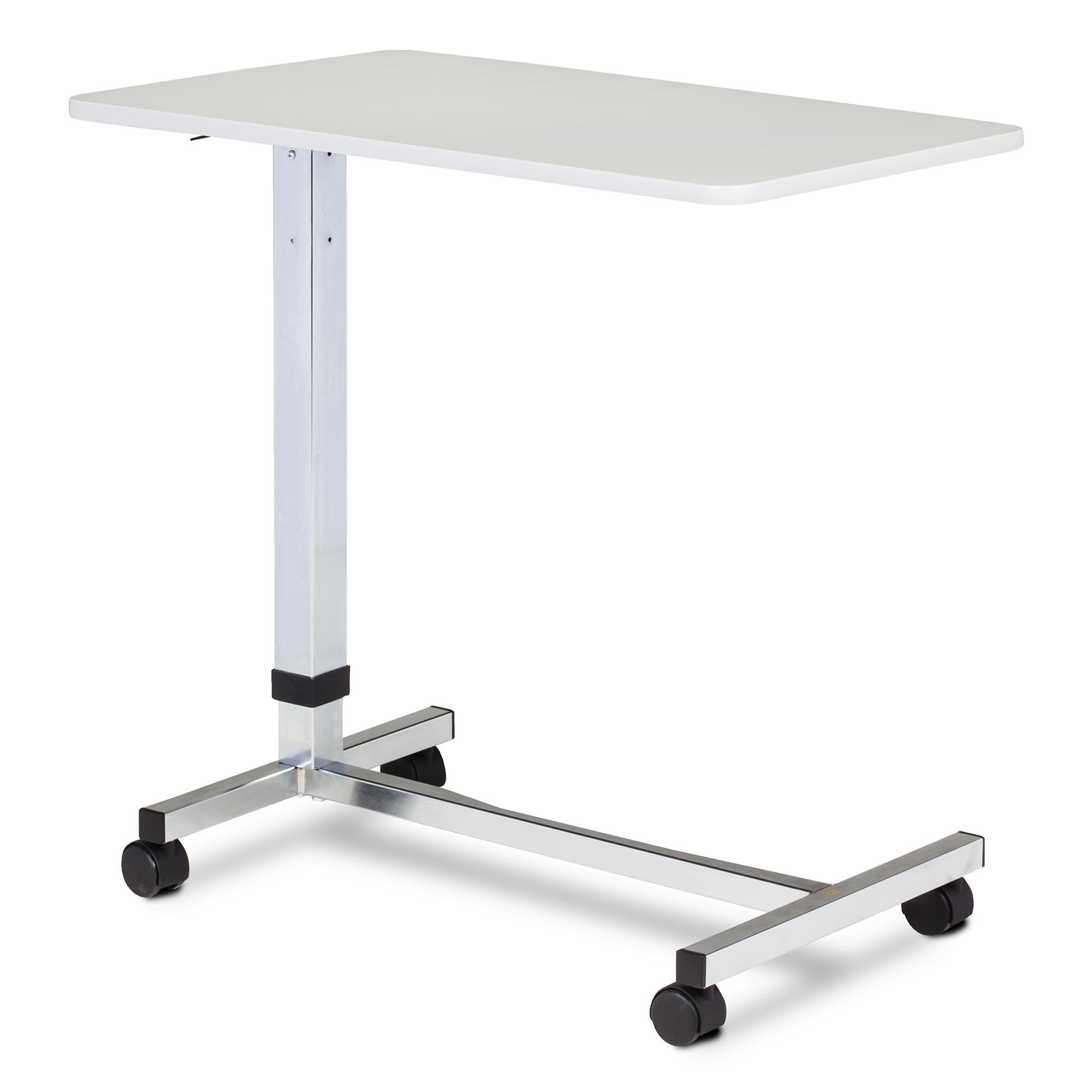 Clinton H-Base, Over Bed Table With Gray Laminate Top