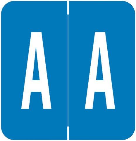 GBS 8848 Match VRPK Series Alpha Sheet Labels - Letter A - Royal Blue