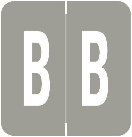 GBS 8848 Match VRPK Series Alpha Sheet Labels - Letter B - Gray