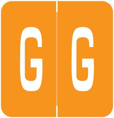 GBS 8848 Match VRPK Series Alpha Sheet Labels - Letter G - Orange