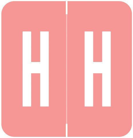 GBS 8848 Match VRPK Series Alpha Sheet Labels - Letter H - Pink