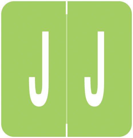 GBS 8848 Match VRPK Series Alpha Sheet Labels - Letter J - Light Green