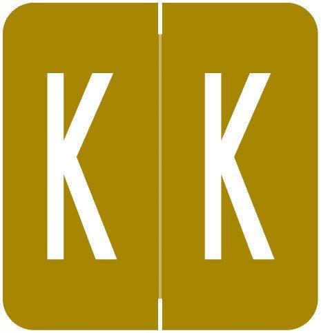 GBS 8848 Match VRPK Series Alpha Sheet Labels - Letter K - Gold