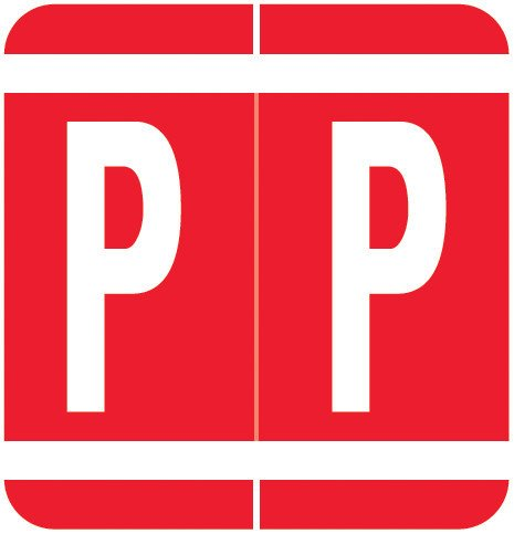 GBS 8848 Match VRPK Series Alpha Sheet Labels - Letter P - Red