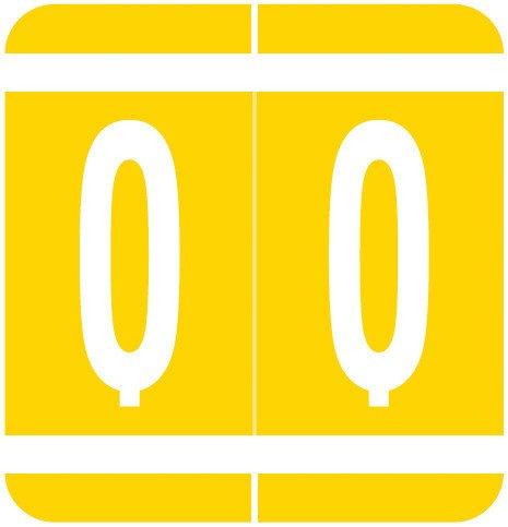 GBS 8848 Match VRPK Series Alpha Sheet Labels - Letter Q - Yellow