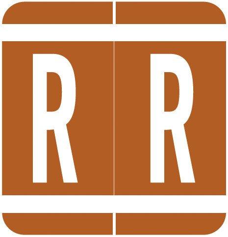 GBS 8848 Match VRPK Series Alpha Sheet Labels - Letter R - Brown