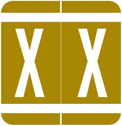 GBS 8848 Match VRPK Series Alpha Sheet Labels - Letter X - Gold