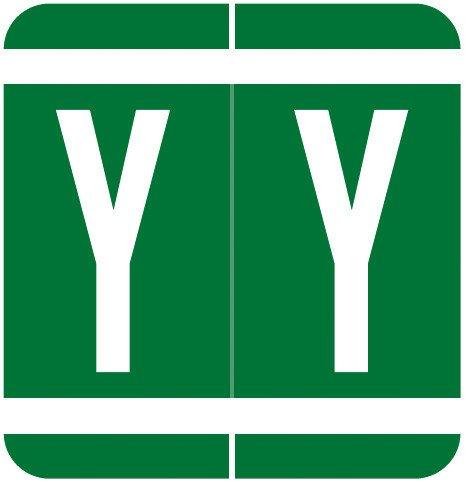 GBS 8848 Match VRPK Series Alpha Sheet Labels - Letter Y - Dark Green