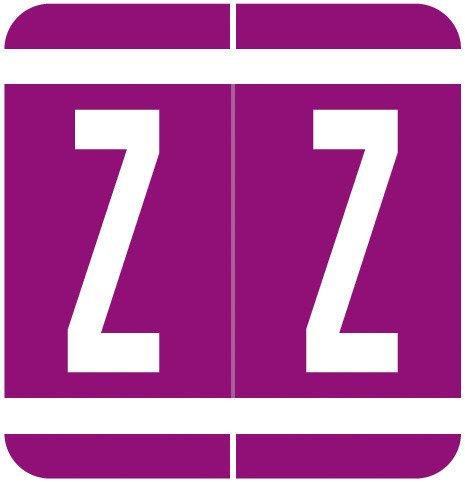 GBS 8848 Match VRPK Series Alpha Sheet Labels - Letter Z - Purple