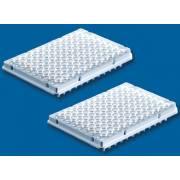 BRAND Polypropylene White 96-Well Real-Time PCR (qPCR) Plates - Well Volume 0.2mL - Half Skirt