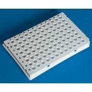 BRAND Polypropylene White 96-Well Real-Time PCR (qPCR) Plates - Well Volume 0.15mL - Low Profile