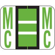 Tab Products 1283 Match Alpha Roll Labels - Letter MC - Light Green