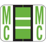 Tab Products 1286 Match Alpha Sheet Labels - Letter MC - Light Green