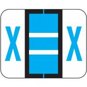 Tab Products 1286 Match Alpha Sheet Labels - Letter X - Blue