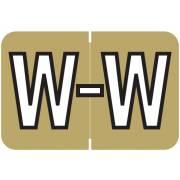 Barkley FABKM Match BRAM Series Alpha Roll Labels - Letter W - Gold Label