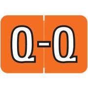 Barkley FABKM Match BRPK Series Alpha Sheet Labels - Letter Q - Dark Orange Label