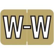 Barkley FABKM Match BRPK Series Alpha Sheet Labels - Letter W - Gold Label