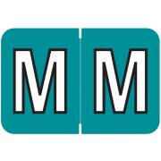 Colwell Jewel Tone Match COAM Series Alpha Roll Labels - Letter M - Teal Label