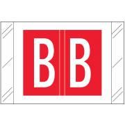 Tabbies 12000 Match CRAM Series Alpha Roll Labels - Letter B - Red Label