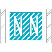 Tabbies 12000 Match CRAM Series Alpha Roll Labels - Letter N - Light Blue and White Label