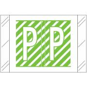 Tabbies 12000 Match CRAM Series Alpha Roll Labels - Letter P - Light Green and White Label