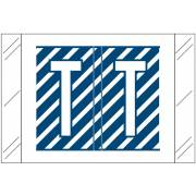 Tabbies 12000 Match CRAM Series Alpha Roll Labels - Letter T - Dark Blue and White Label