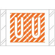 Tabbies 12000 Match CRAM Series Alpha Roll Labels - Letter U - Orange and White Label