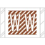 Tabbies 12000 Match CRAM Series Alpha Roll Labels - Letter W - Brown and White Label