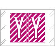 Tabbies 12000 Match CRAM Series Alpha Roll Labels - Letter Y - Purple and White Label