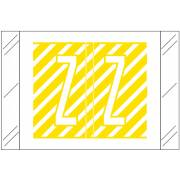 Tabbies 12000 Match CRAM Series Alpha Roll Labels - Letter Z - Yellow and White Label