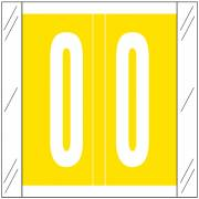 Barkley FNSRM Match CSNM Series Numeric Roll Labels - Number 0 - Yellow