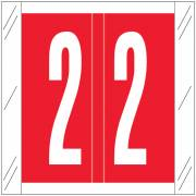 Barkley FNSRM Match CSNM Series Numeric Roll Labels - Number 2 - Red