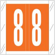 Barkley FNSRM Match CSNM Series Numeric Roll Labels - Number 8 - Orange