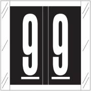 Barkley FNSRM Match CSNM Series Numeric Roll Labels - Number 9 - Black