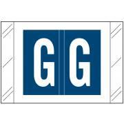 Barkley FASTM Match CTAM Series Alpha Roll Labels - Letter G - Dark Blue Label